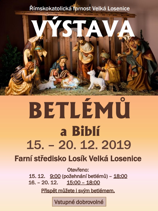 Výstava betlémů a Biblí 15.-20.12.2019